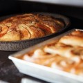 Apple Cake and Cinnamon Rolls