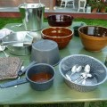 Old style pots and dishes