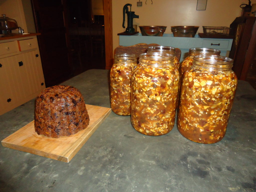 Plum pudding and Mincemeat made at Hillside Homestead